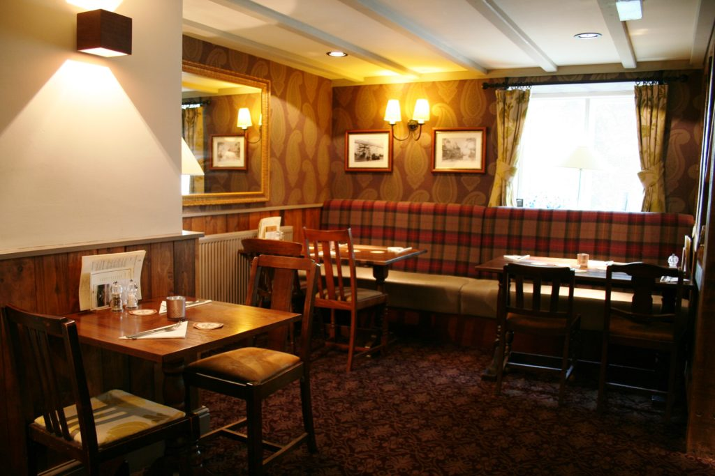 dining room at The White Hart pub Iron Acton