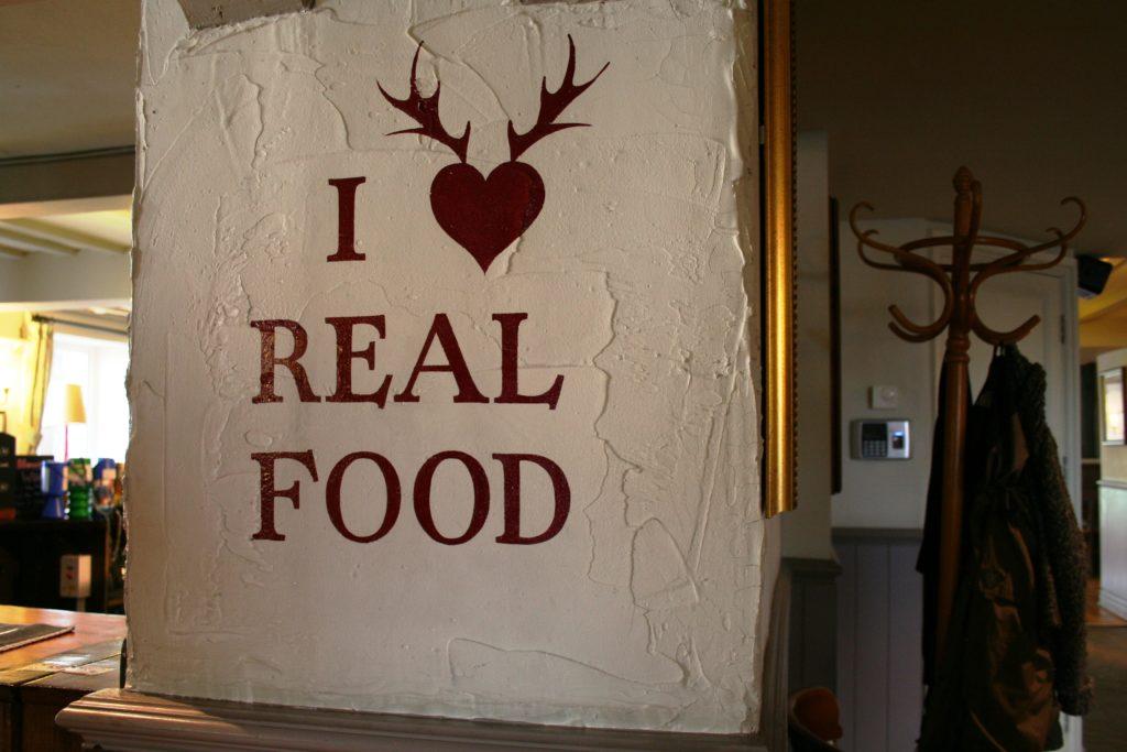 wall art at The White Hart pub Iron Acton