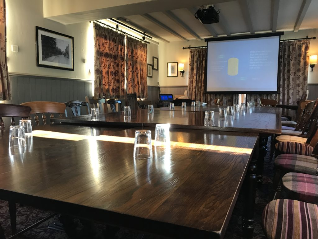 business meeting at The White Hart pub Iron Acton