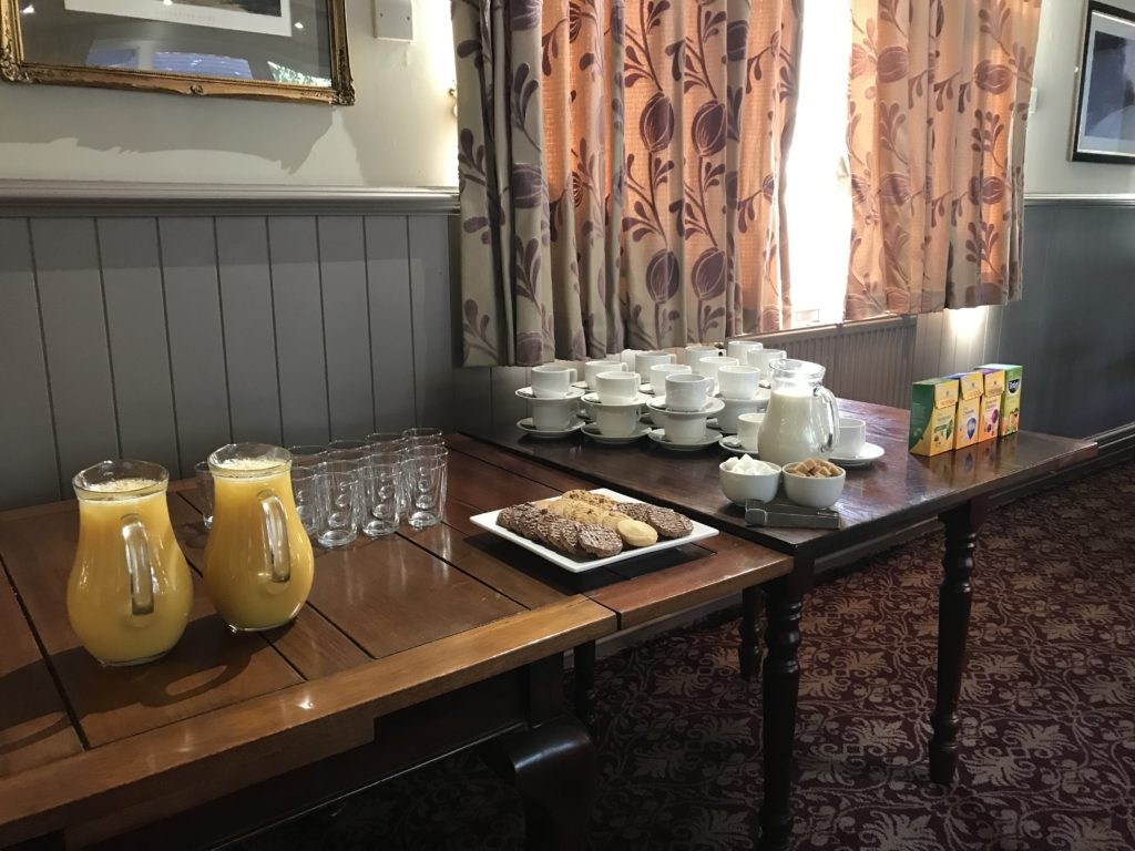 business meeting refreshments at The White Hart pub Iron Acton