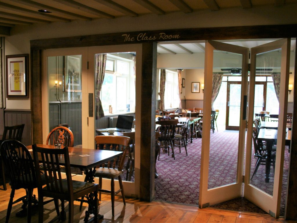function room at The White Hart pub Iron Acton