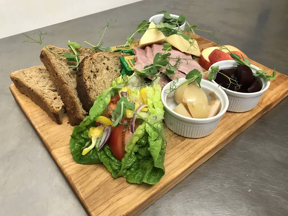 ploughmans lunch at The White Hart pub Iron Acton