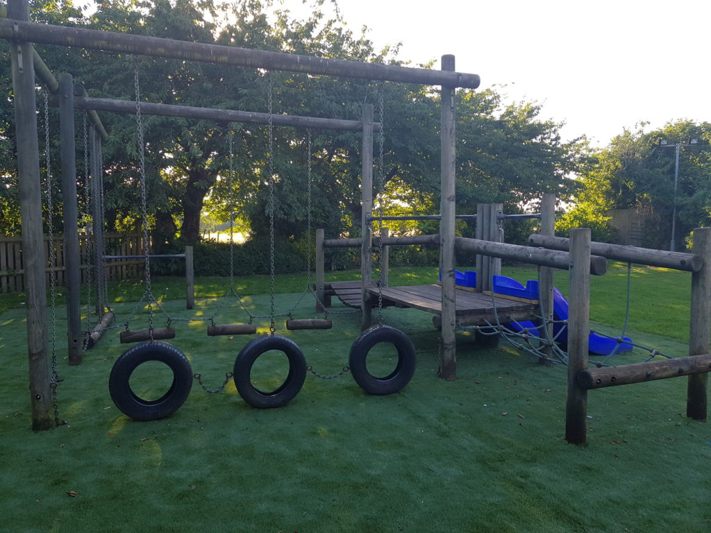 childrens play area at The White Hart pub Iron Acton